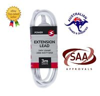 Power Extension Lead Standard Australian 240V 3-Pin Plug Cord Cable 3M/5M/10M
