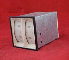 MeW Doppel-Voltmeter 0-500 V 96x96mm analog Einbaumessgerät Doppelvoltmeter