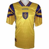 1996-1998 Sweden Home Football Shirt, Adidas, XL (Excellent Condition)