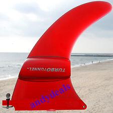 """Turbo Tunnel Fin Red 7.5"""" Longboard Surfboard Surf New"""