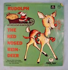 Rudolph The Red Nosed Reindeer 45 RPM & Picture Sleeve Dick Edwards Christmas O