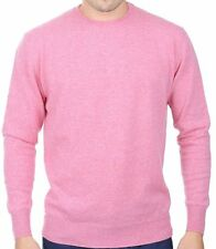 Balldiri 100% Cashmere Cashmere Uomo Pullover Girocollo in esclusiva rosa S