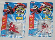 Superhuman Samurai Syber-Squad figures. New. Drago, Servo Syber Action Vintage
