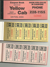 Dayton, Ohio Yellow Cab $20.00 Coupon Book - Complete