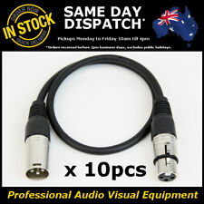 10 x 500mm Balanced M-F XLR Microphone Mic PA Patch Lead Cable Cord Lead 0.5M