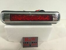 Universal LED Third 3rd Brake Light License Plate Light - Chrome