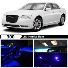 19x Blue Interior LED Lights Package Kit for 2015-2017 Chrysler 300 300C
