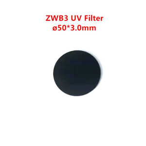 50*3.0mm UV Pass Filter ZWB3 UG5 Visible Light Cut Black Glass for 253.7 254nm