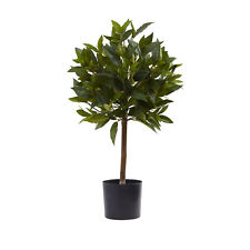2ft Sweet Bay Mini Ball Topiary in pot  Artificial Silk fake Plant-Free Shipping