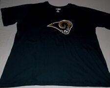 St Louis Rams T-shirt Ladies 2XL Distressed Logo Navy Majestic Nba