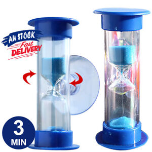 3 Min Hourglass Shower Timer Save Water No Battery Needed Blue Sand