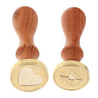 2 Initial Seal Wax Stamp Sealing Envelope&Heart Model for Wedding Invitation