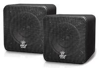 """PYLE-HOME PCB4BK PYLE HOME 4"""" 200-Watt Mini-Cube Bookshelf Speakers (Black)"""
