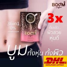 3x BOOM COFFEE 36 IN 1 Slim Fit Weight Loss Collagen Vitamins Fiber Detox % Fat