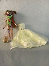 GOTHIC HAUNTED HORROR HAND SCULPED REPTILE PRINCESS CREEPY DOLL BY JEWLFLOWER