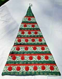 """Brand new handmade Quilted Fabric Advent Calendar. 27""""x 7"""". 25 fillable pockets."""