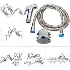 Neu WC Handbrause Duschkopf Wandhalter Schlauch Set Adapter Shattaf Sprühgerät