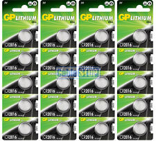 20 x GP CR2016 3V Lithium Button Battery Coin Cell DL2016 EXPIRY 2026