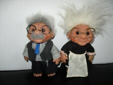 DAM Troll Zwerge Figuren Puppen Oma und Opa 22 cm ca. 70er 80er Jahre