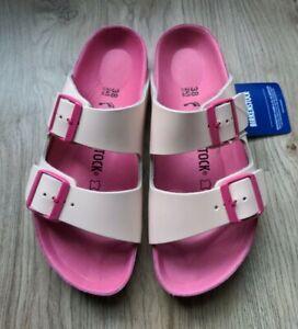 Birkenstock Arizona Natural Monterey Leather Sandal EU 38 Womens 7-7.5 Rose Pink