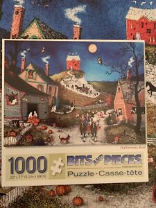 Bits & Pieces Halloween, Boo! Linda Nelson Stocks 1000 Piece Jigsaw Puzzle