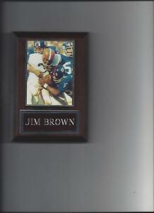 JIM BROWN PLAQUE CLEVELAND BROWNS FOOTBALL NFL