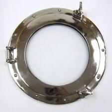 """15"""" Nautical Aluminum Chrome Finish Round Porthole With Glass"""
