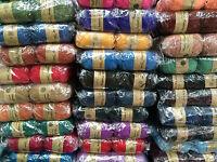 knitting wool 5 x 100g acrylic yarn 8ply bulk buy several colours to choose