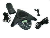 Polycom SoundStation 2 Konferenztelefon Rechng_MwSt analog Telefonspinne Telefon
