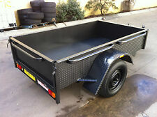 Deep side Box Trailer  LED 7X4FT H duty ALSO 7x5 8x4 8x5 9x5 10x5 AVAILABLE