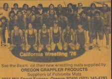 1976-77 University Of California Wrestling Schedule 101917jh