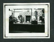 Unusual Vintage Photo 3 Women Knitting Exhibit in Store Window 407175