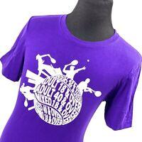 USTA League Florida Purple Tennis Short Sleeve Cotton T-Shirt Mens Large L