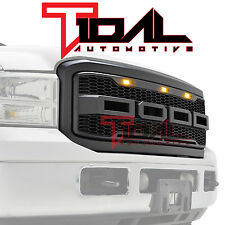 Tidal Charcoal Gray ABS Mesh LED Grille for 05-07 Ford Super Duty F250 / F350
