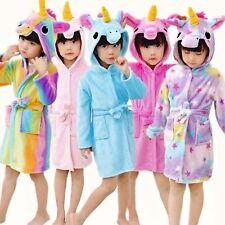 433e88d0bb Unicorn Bathrobe Dressing Gown Pyjamas Pjs Soft Kids Pink Purple Blue Girls  Boys