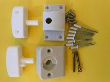 Stegbar Shower screen door pivot blocks / hinges Set White  Left hand