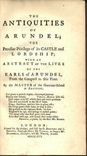 XVIII CENTURY LOCAL HISTORY ARUNDEL ANTIQUITIES ENGLAND SOUTH DOWNS WEST SUSSEX