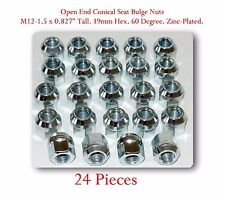 """24 Pieces LUG NUTS OPEN END BULGE ACORN M12-1.50 Tall 0.827"""" / 21mm"""