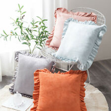 Velvet Ruffled Square Pillowcase 45x45cm Sofa Cushion Pillow Cover Home Decor