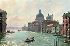 John Stobart Print - Venice: The Salute from the Accademia Bridge