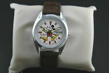 Vintage Seiko Mickey Mouse Day Date White Face 6309 36MM Mens Wrist Watch ST032