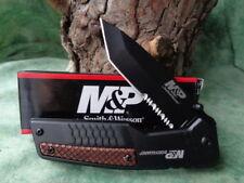 SW1085900 Couteau Smith&Wesson Bodyguard Lame Tanto 8Cr13MoV Serr Manche Alumi