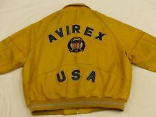 *AVIREX VINTAGE LEDERJACKE*ALL AMERICAN 1975 NEW YORK*GELB*GR: XXXXXL*RARITÄT