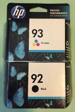 HP 92 Black & 93 Tri-Color Ink Cartridge Lot ~ BRAND NEW Hp 5440