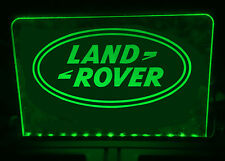 LAND ROVER ILLUMINATED LIGHT UP SIGN PLAQUE