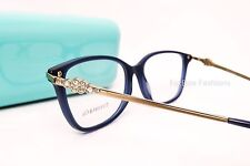 TIFFANY & CO 2133 B 8192 Eyeglasses Optical Frames Glasses Opal Blue & Gold 55mm