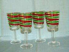 4 FOOTED STEM GLASSES POLYCARBONTE RED GREEN CLEAR STEMWARE STEMS DRINKWARE