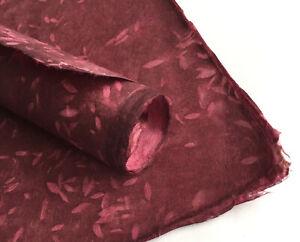 Lokta Paper, Handmade Fair Trade Wrapping Paper, Sirus Leaf Print Natural Dye