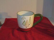 St. Nickolas Square Jumbo Christmas Mug with Christmas Trees