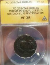 Gordian III. AD 238 - 244 Roman Moesia, Odessus , AE Pentassarion ANACS VF35